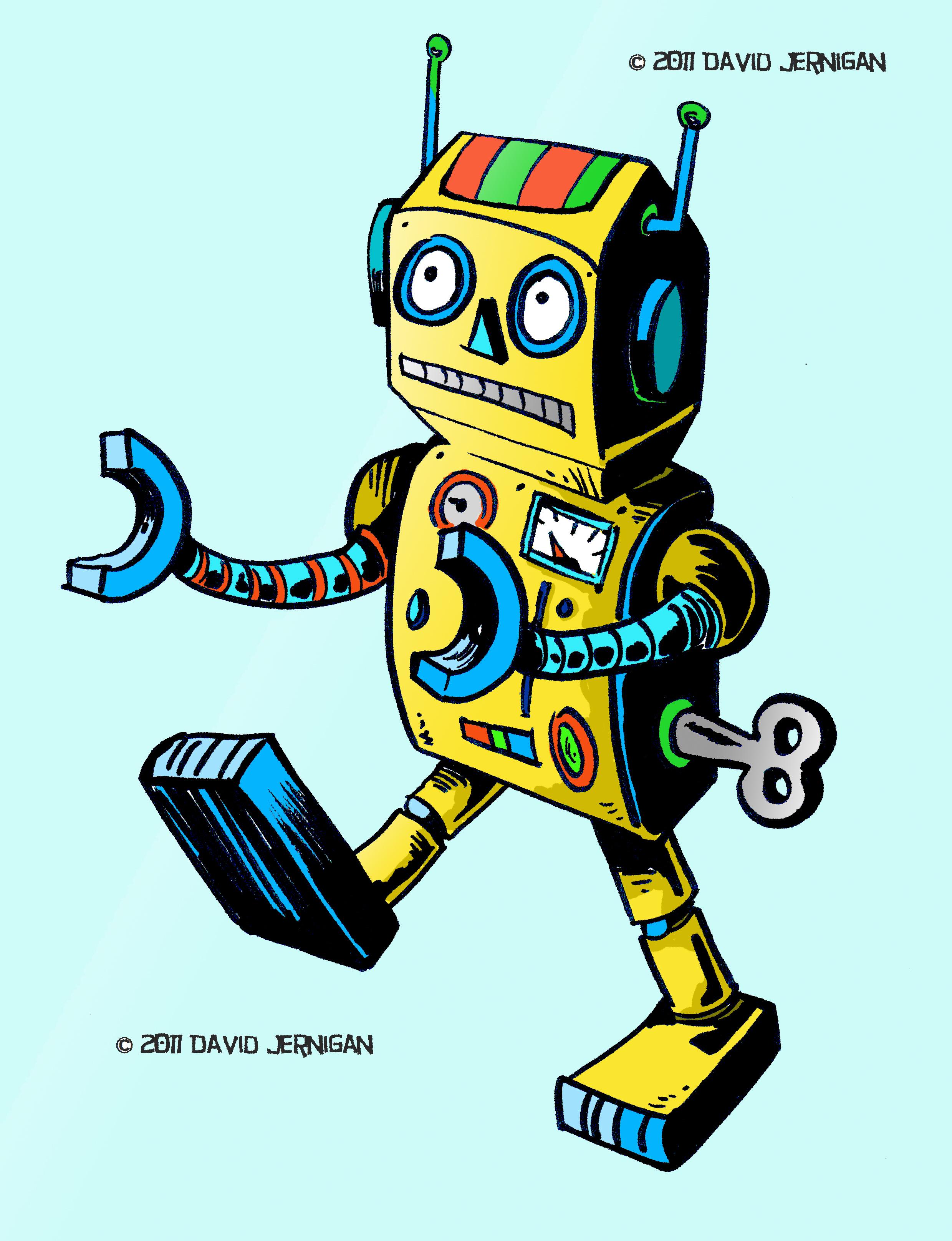 Retro Robots on Pinterest  24 Vintage Robot Drawing
