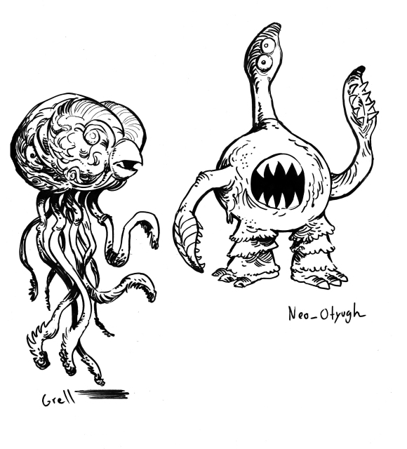 Grell and Neo-otyugh copy