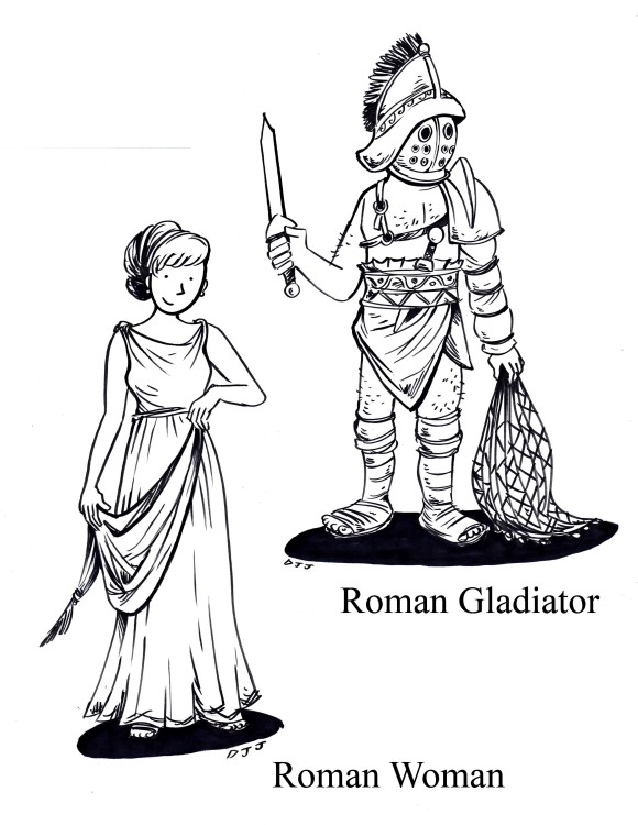 Kids Roman Drawing